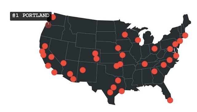 ポートランドは全米一若者が住みやすい街